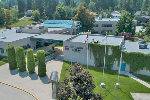 Salmon Arm campus from a bird's eye view