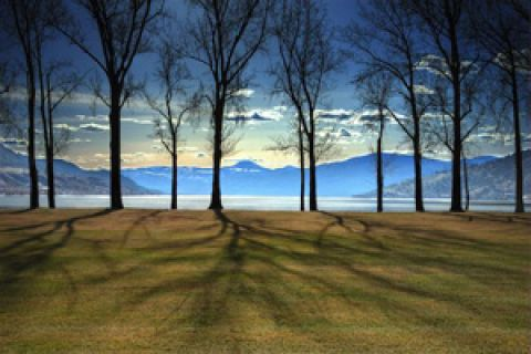 Kin Beach is a great place to relax and enjoy the Okanagan vistas.