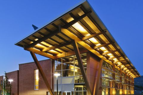 The Jim Pattison Centre of Excellence is among the most sustainable post-secondary buildings in Canada