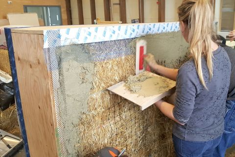 Students learn with hands-on lessons with sustainable materials