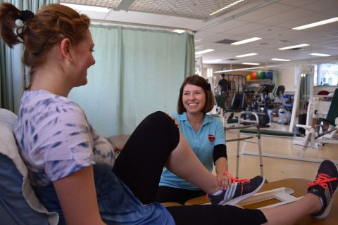 Therapist Assistant students practise in a clinical setting