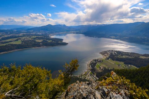 Aerial view of Salmon Arm