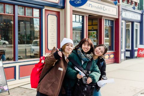 ESL students explore Kelowna's heritage in Pandosy Village.