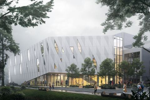 Rendering of Health Sciences Centre by GEC Architecture