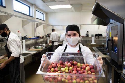 Okanagan College Culinary Arts student