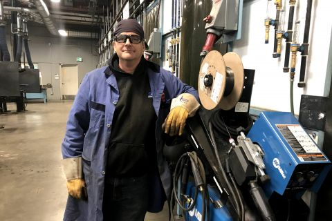 Photo of Curtis Walker, Welding Instructor at Okanagan College
