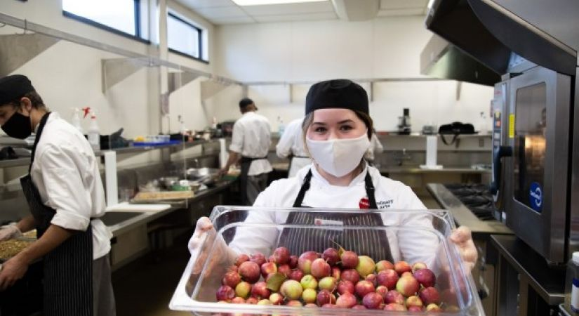 Okanagan College Culinary Arts student